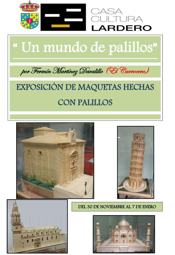 Cartel Exposición de Maquetas Hechas con Palillos