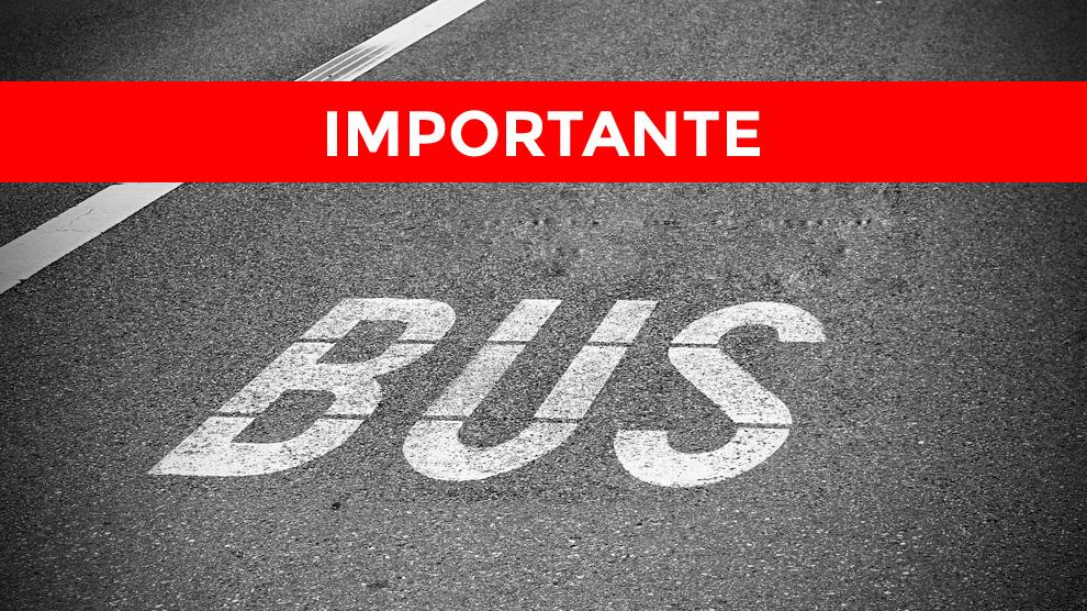 Recorrido provisional del autobús urbano