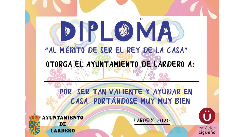 """Diploma """"Al mérito de ser el rey de la casa"""""""