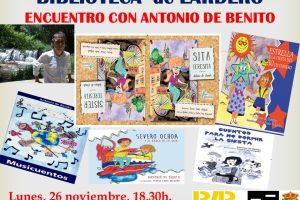 Encuentro con Antonio de Benito en la biblioteca