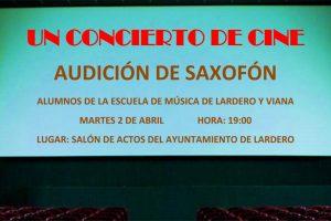 Audición de saxofón de los alumnos de la Escuela de Música de Lardero y Viana.